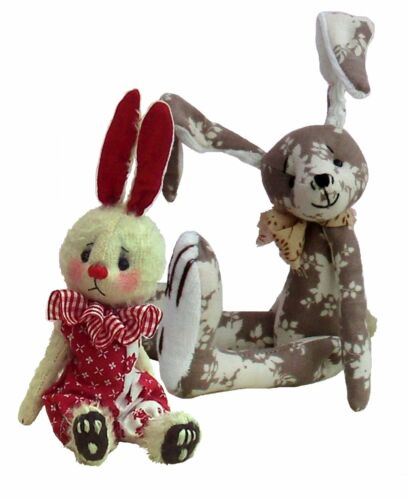 Soft toy rabbit patterns by pcbangles.  Choose either one, or both