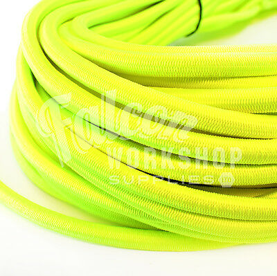 Boat Parts 6mm Luminous Yellow Elastic Bungee Rope Shock Cord Tieroof Racks Trailers 100% High Quality Materials