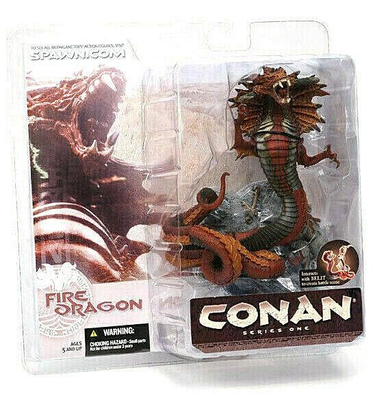 CONAN Serie 1 FIRE DRAGON figura PVC 16cm McFarlane