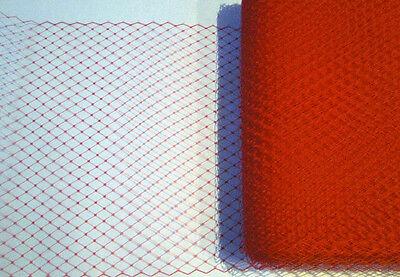 "Ivory White Black Grey Red 9"" Wedding Birdcage Veiling Millinery Hat Veil Net"