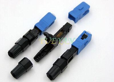 100PCS//set  SC Optic Fiber Quick Cold FTTH SC Single Mode UPC Fast Connector