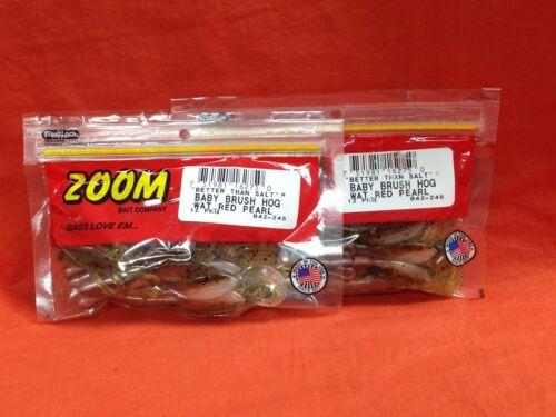 2 PCKS #042-245 Watermelon Red Pearl 12cnt ZOOM Baby Brush Hog