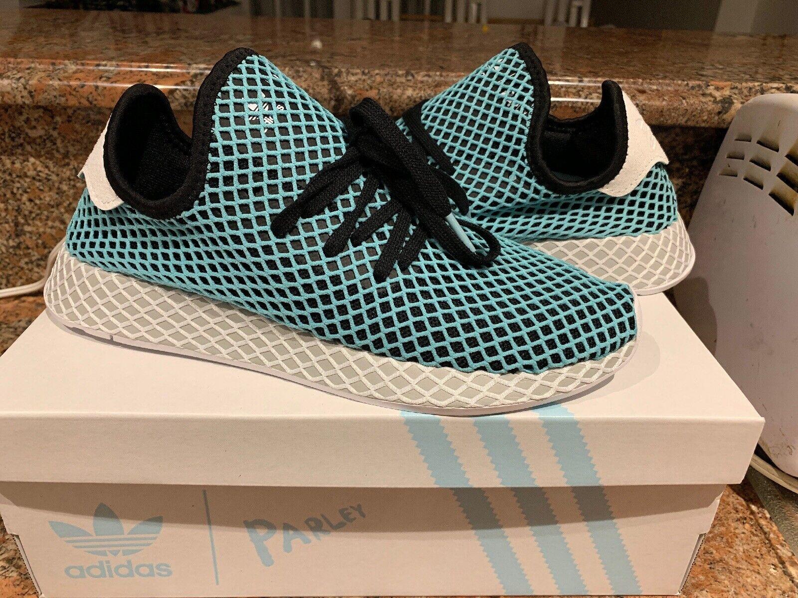 Adidas Originals Deerupt Runner Parley Black bluee Mens Sneakers CQ2623 Size 9