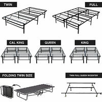 Platform Metal Bed Frame Mattress Foundation Twin, Full, Queen, King & Cal King