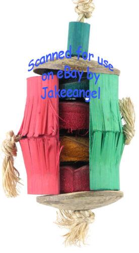 Parrot Pinata Bird Toys Medium Hula Skirt Corn Cob Bamboo Coconut Sisal Chew