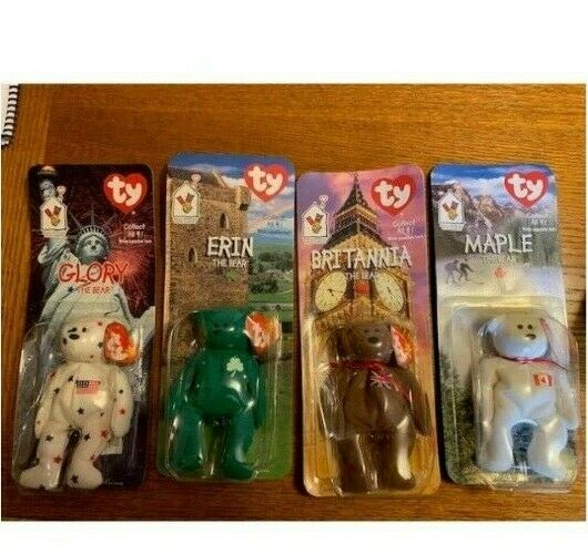 ALL TY BEANIE BEANIE BEANIE BEARS RARE ERRORS (1993)  Glory, Erin, Britannia, and Maple e2dc4e