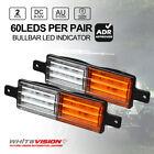 Pair Bullbar Front LED Indicator SUBMERSIBLE FM850 9-32V Park Light Side Marker