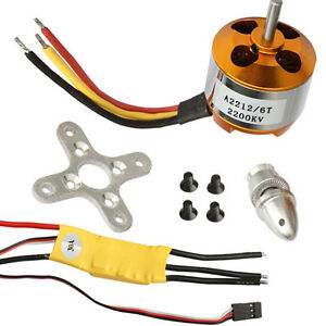 Rc 2200kv Brushless Electric Motor 2212 6 30a Esc For Rc