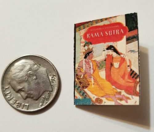 Miniature Dollhouse Book Barbie  Book 1/12 Scale  Indian Kama Sutra Hindu Green