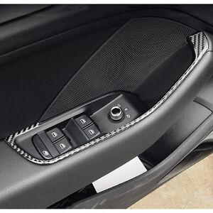 Carbon Fiber Door Armrest Panel Strips For Audi A3 8v Interior Door Handle Decal 652042450208 Ebay