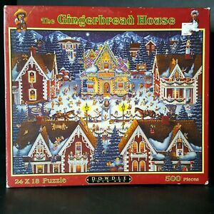 Dowdle-Folk-Art-Gingerbread-House-Christmas-Jigsaw-Puzzle-500-pieces-Large-24x18