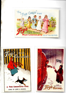 JOBLOT 16 FRYS COCOA/CHOCOLATED RELATED REPRODUCTION POSTCARDS IN EX MINT COND