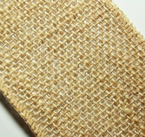"""2.5/"""" Rustic BURLAP,Natural Tan JUTE Wire Edge Ribbon. 3-1//3 yds, 120/"""""""