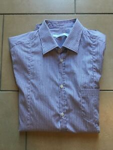 Cotone Camicia Bianche Aglini Italy Viola In 39 Made Tg Righe Slim Uomo Shirt 0Rwnqd1