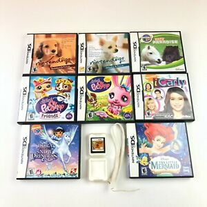 Nintendo-DS-Games-Lot-Pets-Animals-Pony-Nintendogs-Princess-Mermaid-iCarly-9-Lot