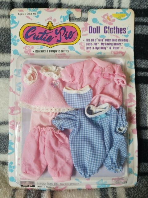 Largo Toys Cutie Pie Mini Baby Doll Clothes 5 6 Dress Pants Top 3 Outfits For Sale Online Ebay