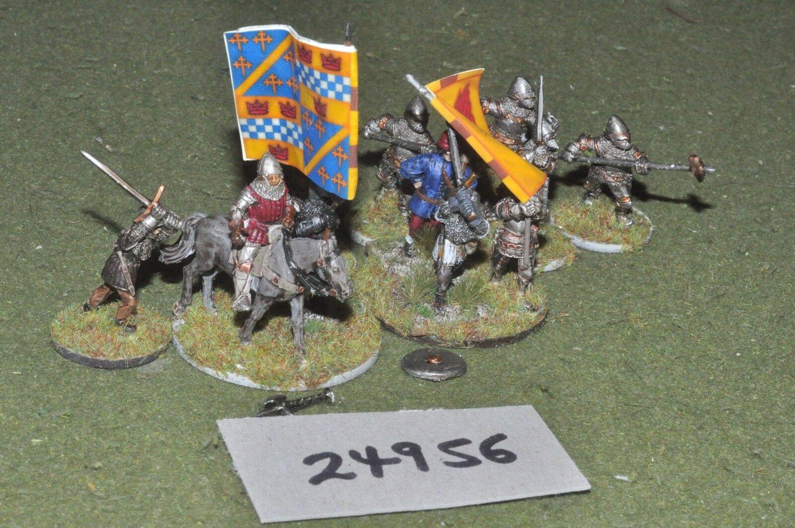 25mm Caballeros Medievales Alemán - 11 figuras-INF (24956)