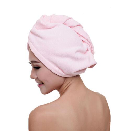 US Women Microfibre Towel Bathing After Shower Quick Dry Hair Hat Cap Turban