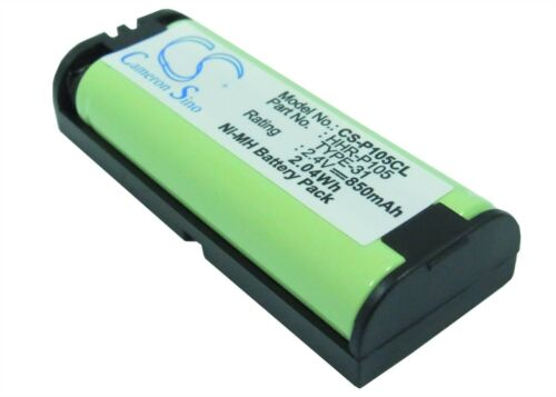Rechargeable Battery For CE MURAPHONE HHR-P105A/1B 850mAh 2.4_Volts Ni-MH