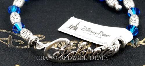 NEW Disney Alex and Ani Silver Celebrate Blue Diamond Beaded Wrap Bracelet