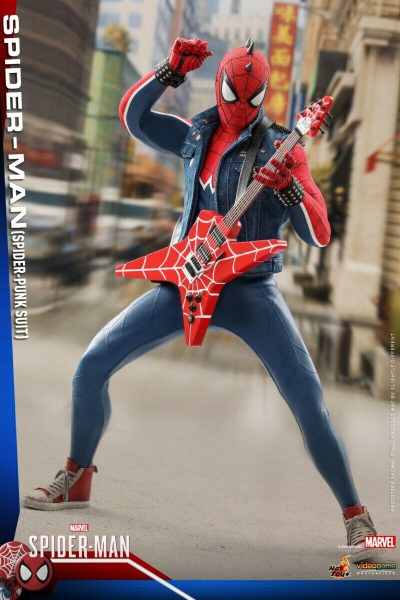 Caliente giocattoli 1 6 Scale Spider-uomo Spider-uomo Spider-uomo Spider-Punk Clothes Suit cifra corpo giocattolo VGM32 PS4 ee9afb