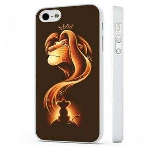 newest afea9 143f1 Details about Disney The Lion King Simba Mufasa Art WHITE PHONE CASE COVER  fits iPHONE