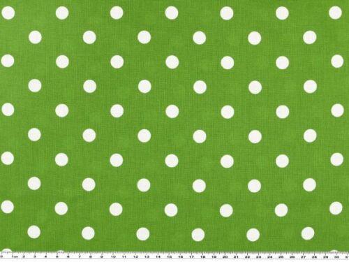 grün-weiss 1cm 140cm Baumwolldruck mit Tupfen