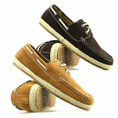 Mens Casual Lace Up Summer Espadrilles Plimsolls Trainers Pumps Boat Shoes Size