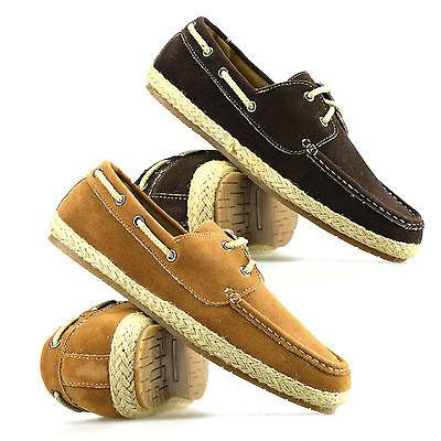 Mens Casual Lace Up Summer Espadrilles Plimsolls Trainers Pumps Boat Shoes Size