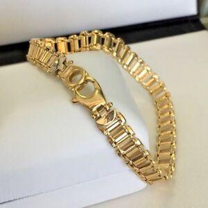 Image Is Loading Uni Solid 18k Gold Bracelet 8 034 20