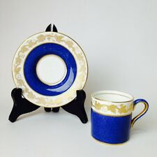 Wedgwood WHITEHALL BLUE POWDER Demitasse Cup and Saucer Bond Shape Excellent