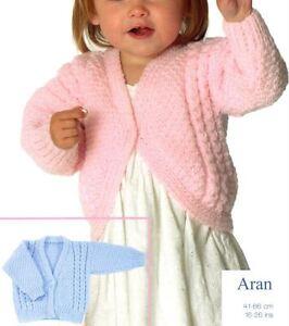 Knitting-Pattern-Baby-039-s-Lovely-Aran-Cable-Cardigans-amp-Bolero-41-66-cm-111