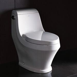 Ariel Adonis Tb133m Modern One Piece Elongated Bowl Toilet