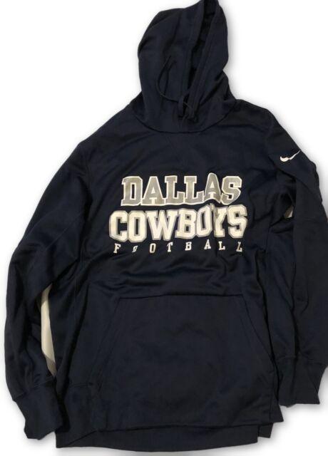 promo code 2aa3c 1cfc8 Dallas Cowboys Nike Circuit Practice Navy Large Hoodie Sweatshirt