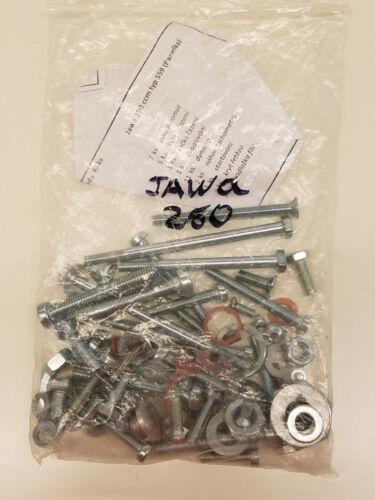 TORNILLERIA DE LA UNIDAD JAWA 250 MOTORCYCLE SCREW SET //CYLINDER BLOCK JAWA 250