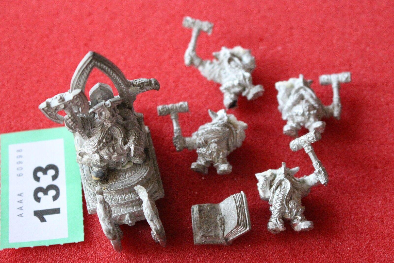 Games Workshop Warhammer Dwarf Thorgrim Grudgebearer Throne of Power Metal OOP