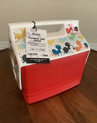 Mickey Mouse Mini Special Edition Multicolor 4 Qt Igloo Cooler Ships Free Ebay