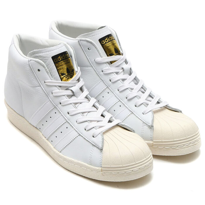 Adidas Pro Model Vintage DLX Trainers Trainers shoes Leather White New