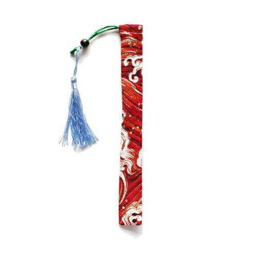 Japonais Crane Wave imprimé lin baguettes cas avec Tassel Rétro 2PCS Réutilisable
