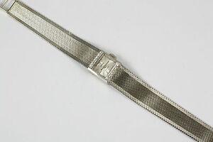 Absoluter-Klassiker-Damenuhr-Weissgold-585-mit-12-Diamanten-sehr-gepflegt