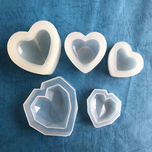 Details about 3D Silicone Heart Mold Resin Jewelry Making Mould Clay  Polymer Casting Craft DIY