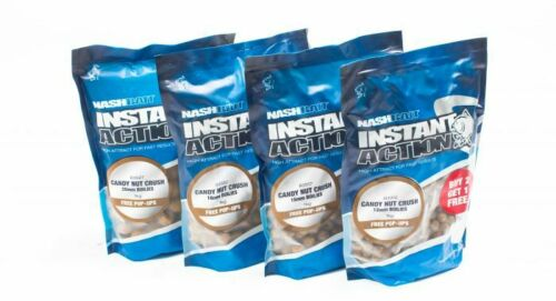 Nash Bait Instant Action Candy Nut Crush *3 for price of 2* 12//15mm Boilies 200g