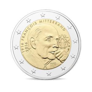 piece de monnaie 2 euro francois mitterrand