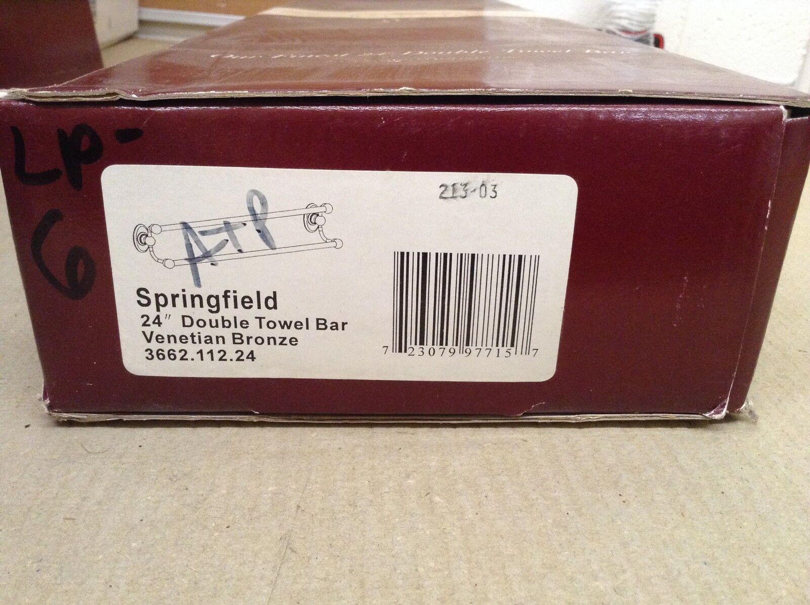 Baldwin 3662.112.24 Springfield 24in Double Towel Bar, VENETIAN BRONZE