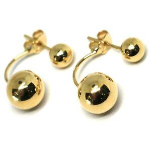 vendita scontata sfumature di nuovo stile Yellow Gold Earrings 750 18k, Pendants, Double Sphere, Made in ...