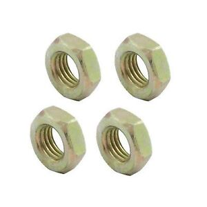 Allstar Jam Nut 3//8-24 in Left Hand Thread Steel Zinc Oxide Set of 4 18255