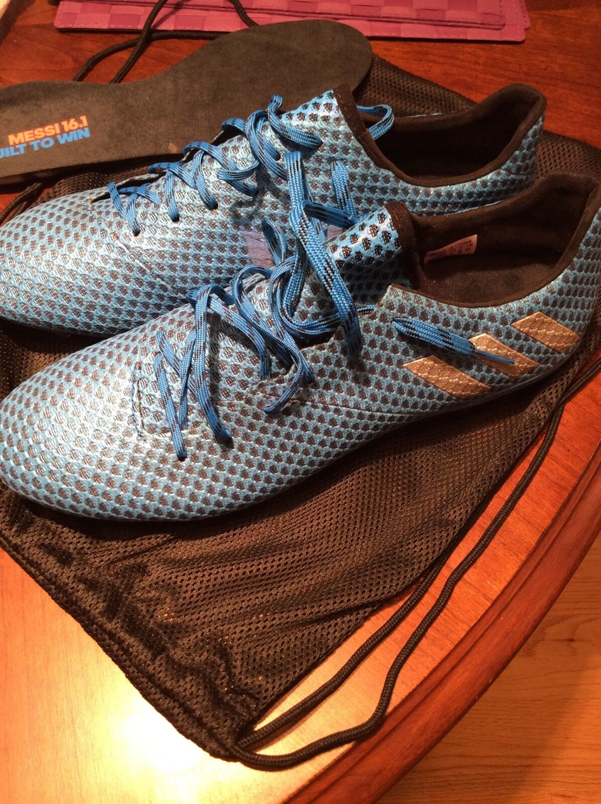 Adidas Messi 16.1 Soccer Field Cleats shoes blueee Size 10 Brand New Unworn