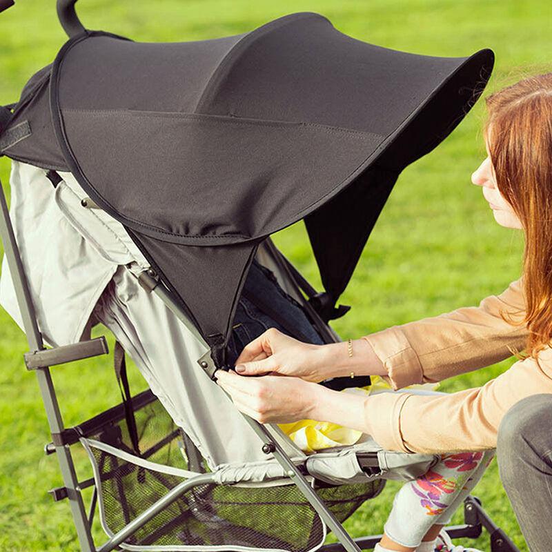 BABY SUN SHADE BLACK FOLDING POP UP UV CANOPY PARASOL HOOD for BUGGY or STROLLER