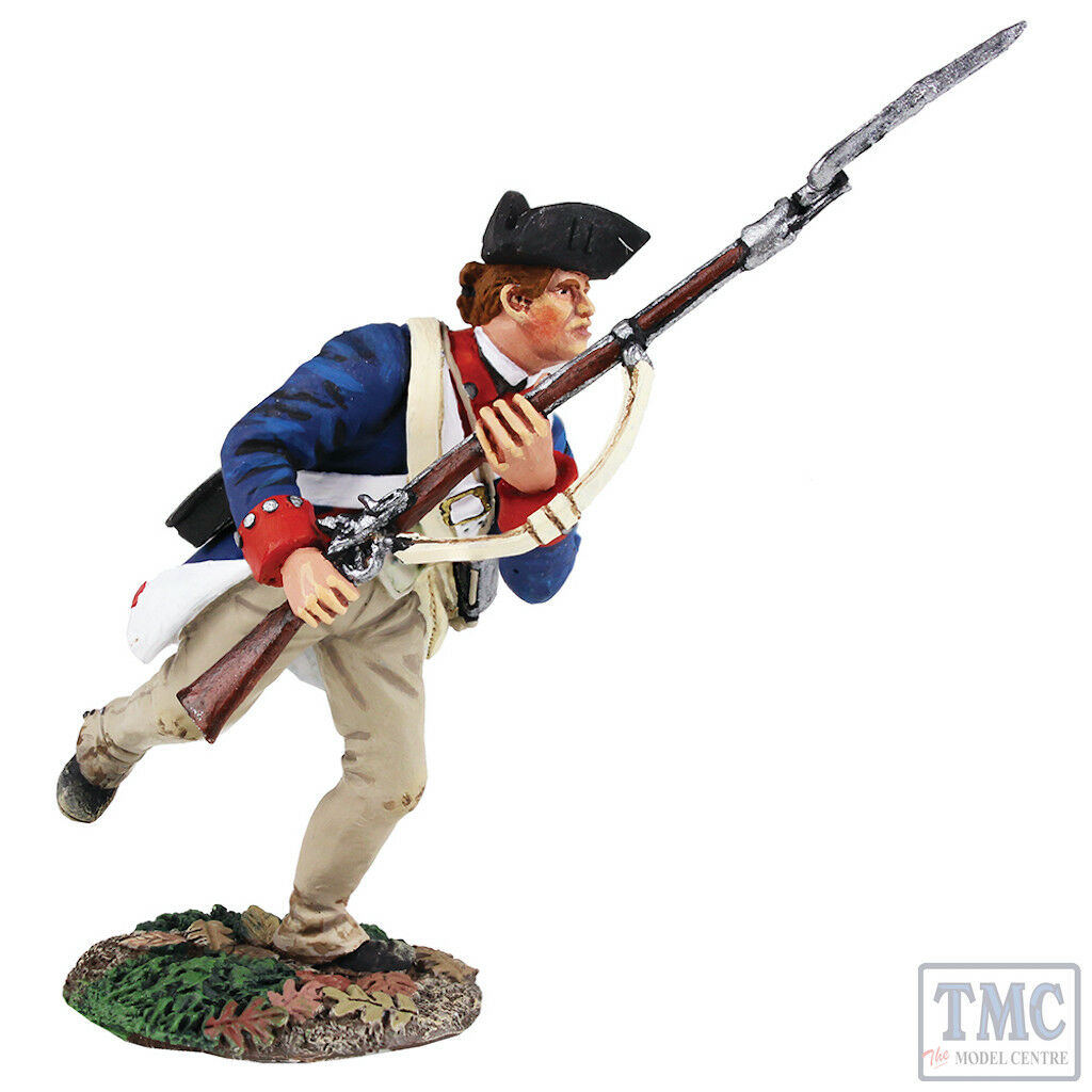 B16022 W.Britain Continental Army 1st American Regiment Charging _1