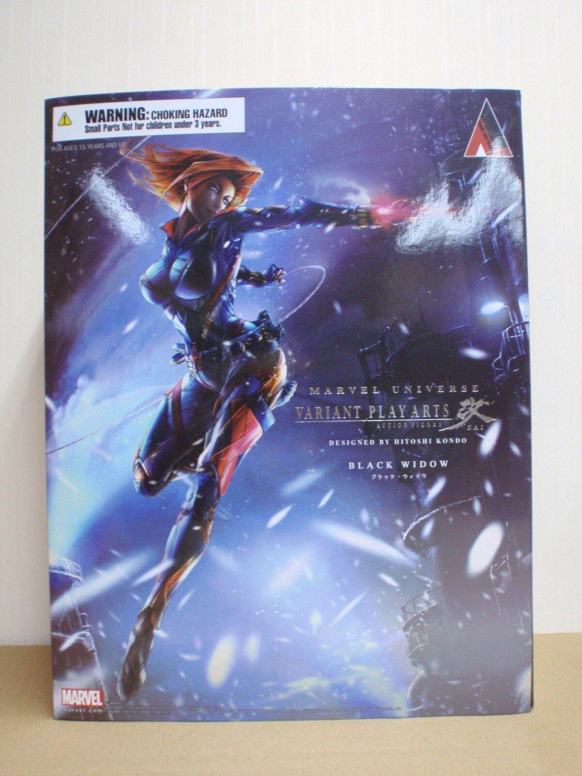 Square Enix Marvel Universe Variante Play Arts Kai Viuda Negra Figura De Acción
